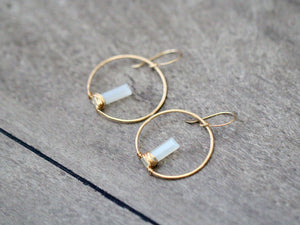 Sunrise Earrings - Moonstone