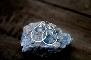 Arrow Hoop Earrings - Crystal Quartz  ( As Seen On Jane the Virgin )