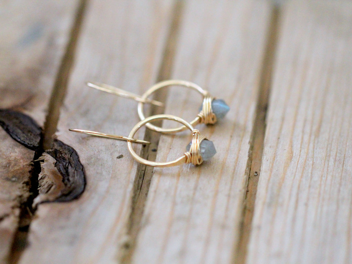 Pike Hoops - Labradorite