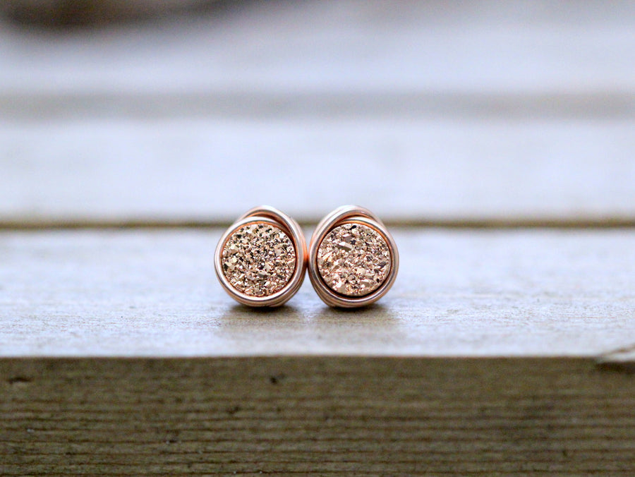 Micro Studs - Gilded Rose Gold