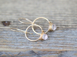 Pike Hoops - Rose Quartz