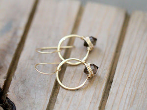 Pike Hoops - Smoky Quartz