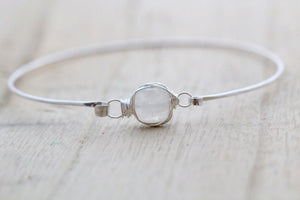 Moonstone Bezel Wrapped Bracelet