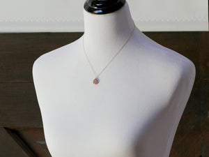 Gilded Druzy Teardrop Necklace - ( As Seen On Chicago Fire )