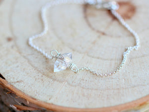 Herkimer Diamond Caged Bracelet - Chain