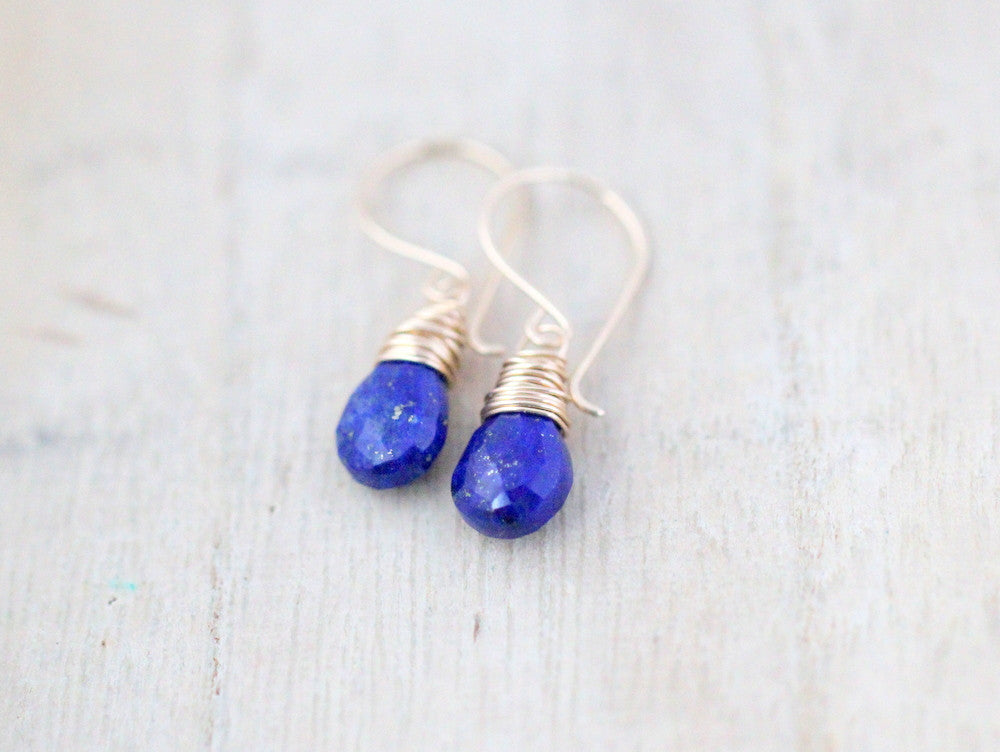 lazuli earrings handmade th perfect sterling silver lapis blue genuine image