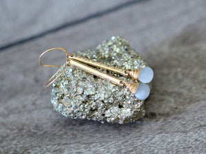 Moonstone Bar Earrings