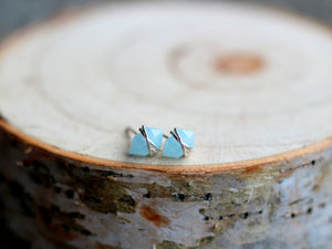 Pike Studs - Aquamarine