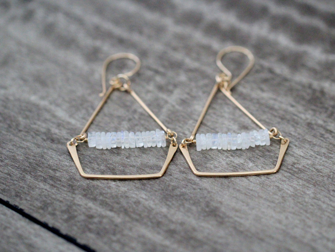 Swing Earrings - Moonstone