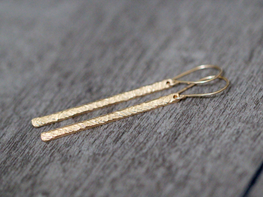 Long and Lean Bar Earrings