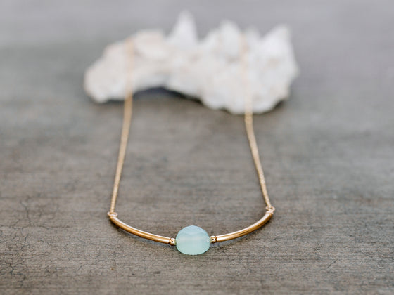 Luna Necklace - Chalcedony