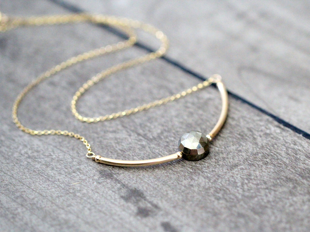 Luna Necklace - Pyrite