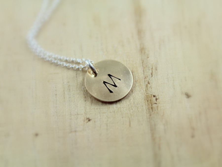 Hand Stamped Disc (Add a Charm)