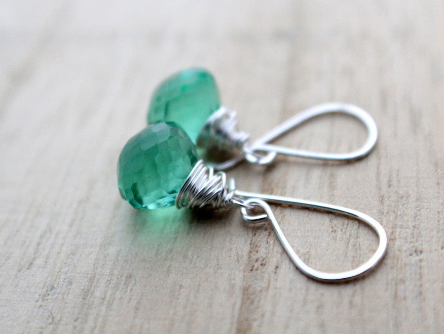 Caribbean Green Quartz Drops