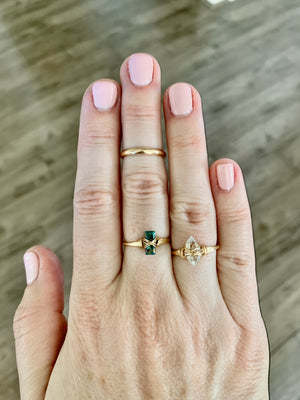Baguette Gem Ring - Copper Turquoise