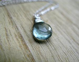 Moss Aquamarine Necklace