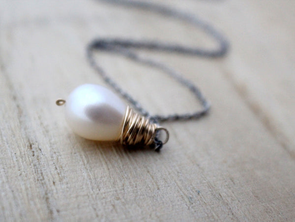Pearl Mixed Metal Necklace