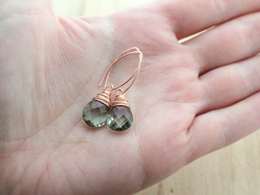 Prasiolite Rose Gold Drops