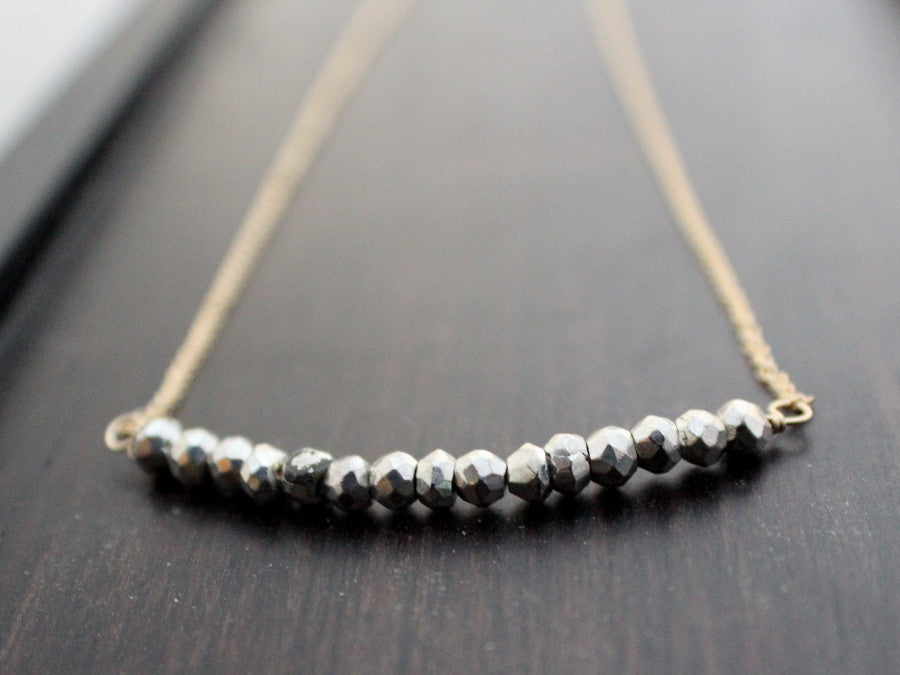 Flash Necklace - Pyrite Bar