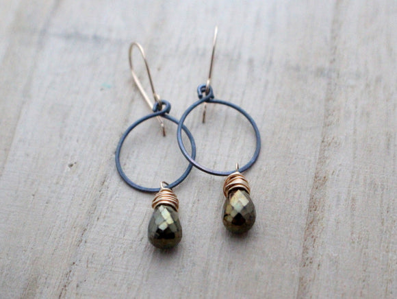 Mystic Spinel Hoops