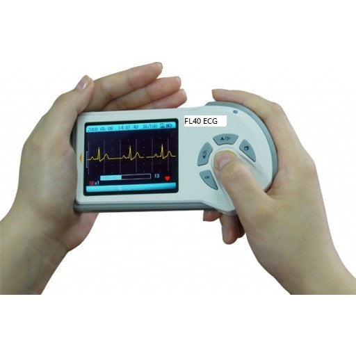 FL40 Handheld ECG monitor , color screen , SD card slot , real time PC view