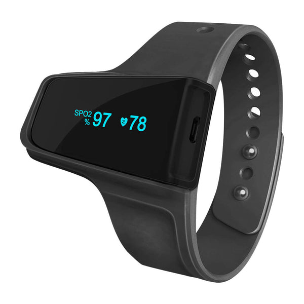FL320 Wrist Pulse Oximeter for Sleep and Fitness - SPO2 & Heart Rate Recorder with Vibration Alerts