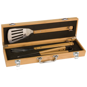 Bamboo BBQ Gift Set with 3 Tools