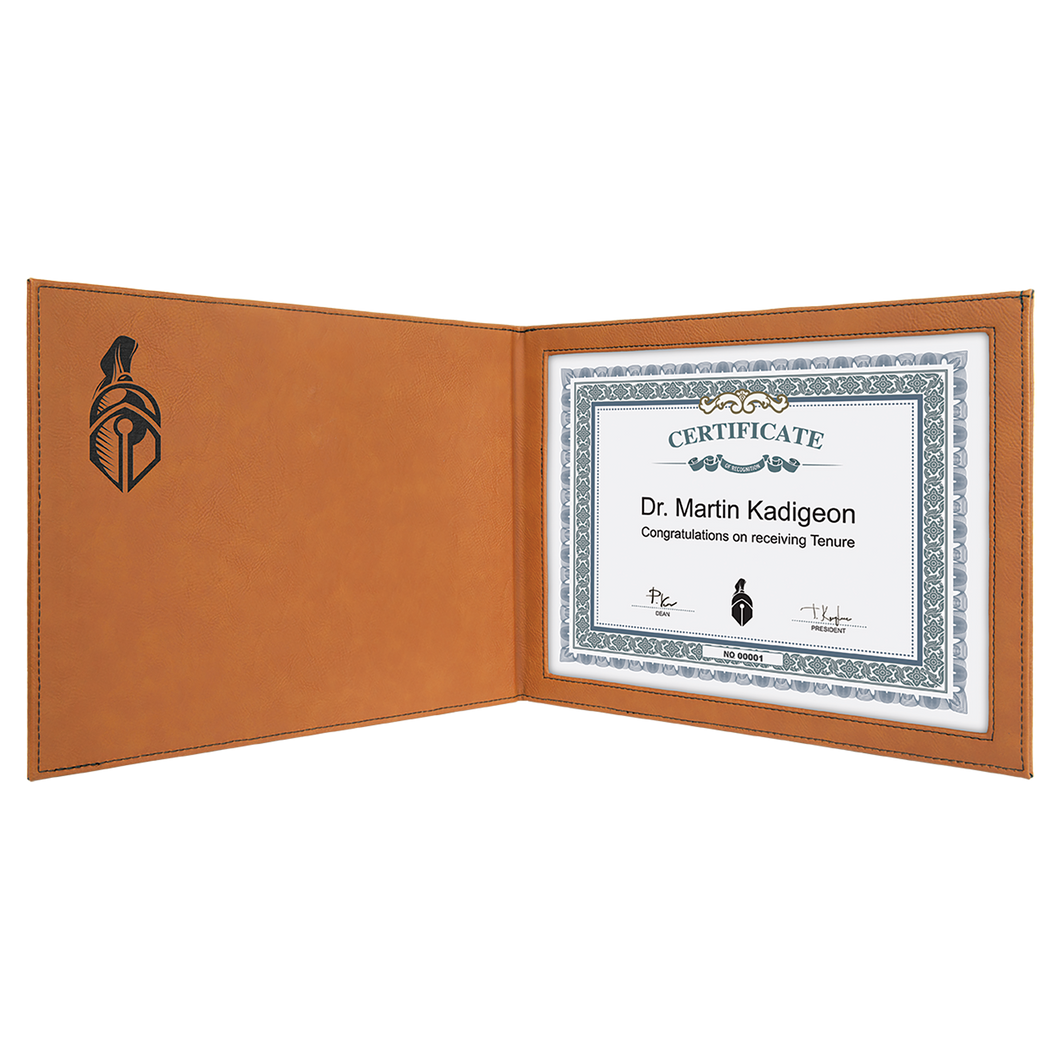 Rawhide Leatherette Certificate Holder for 8 1/2