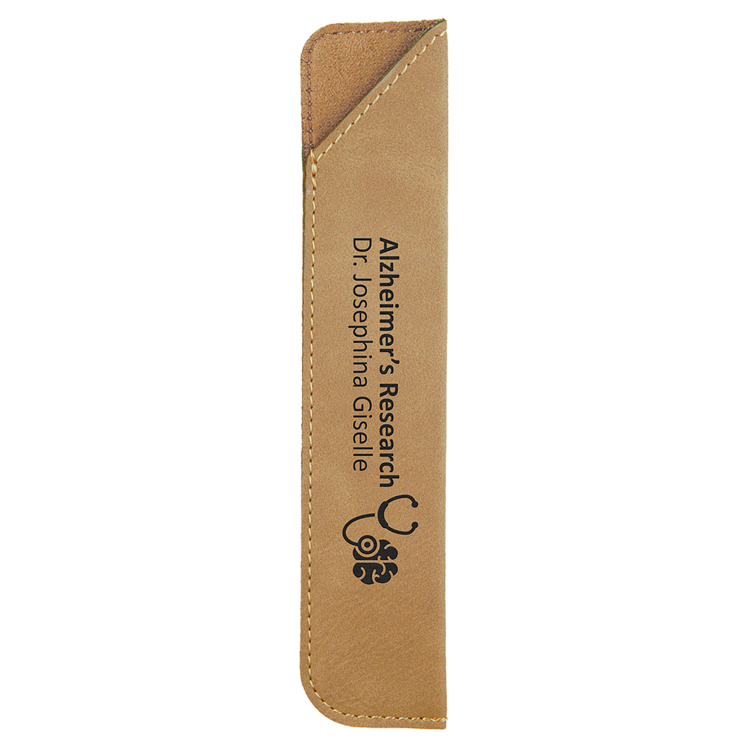 Light Brown Leatherette Pen Sleeve