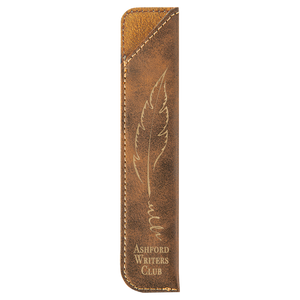 Rustic & Gold Leatherette Pen Sleeve