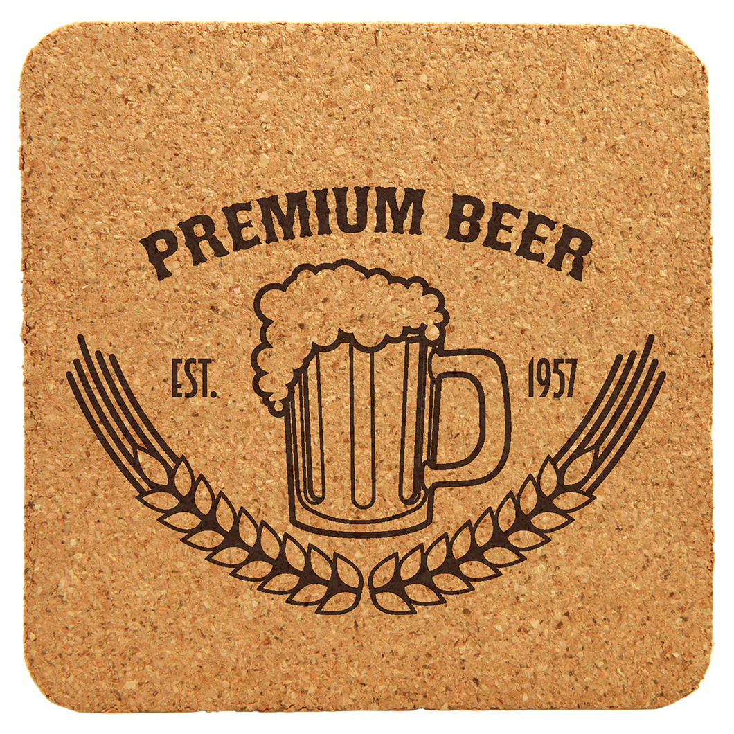 Sqaure Cork Coaster