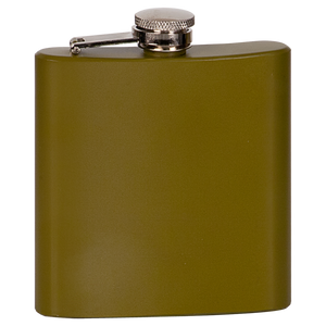 6 oz. Matte Green Stainless Steel Flask