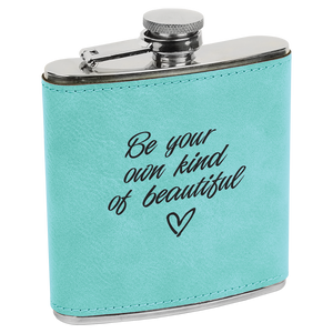 6 oz. Teal Leatherette Flask