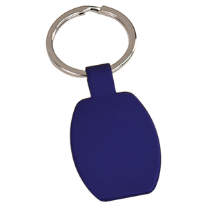Blue Rectangular Metal Keychain