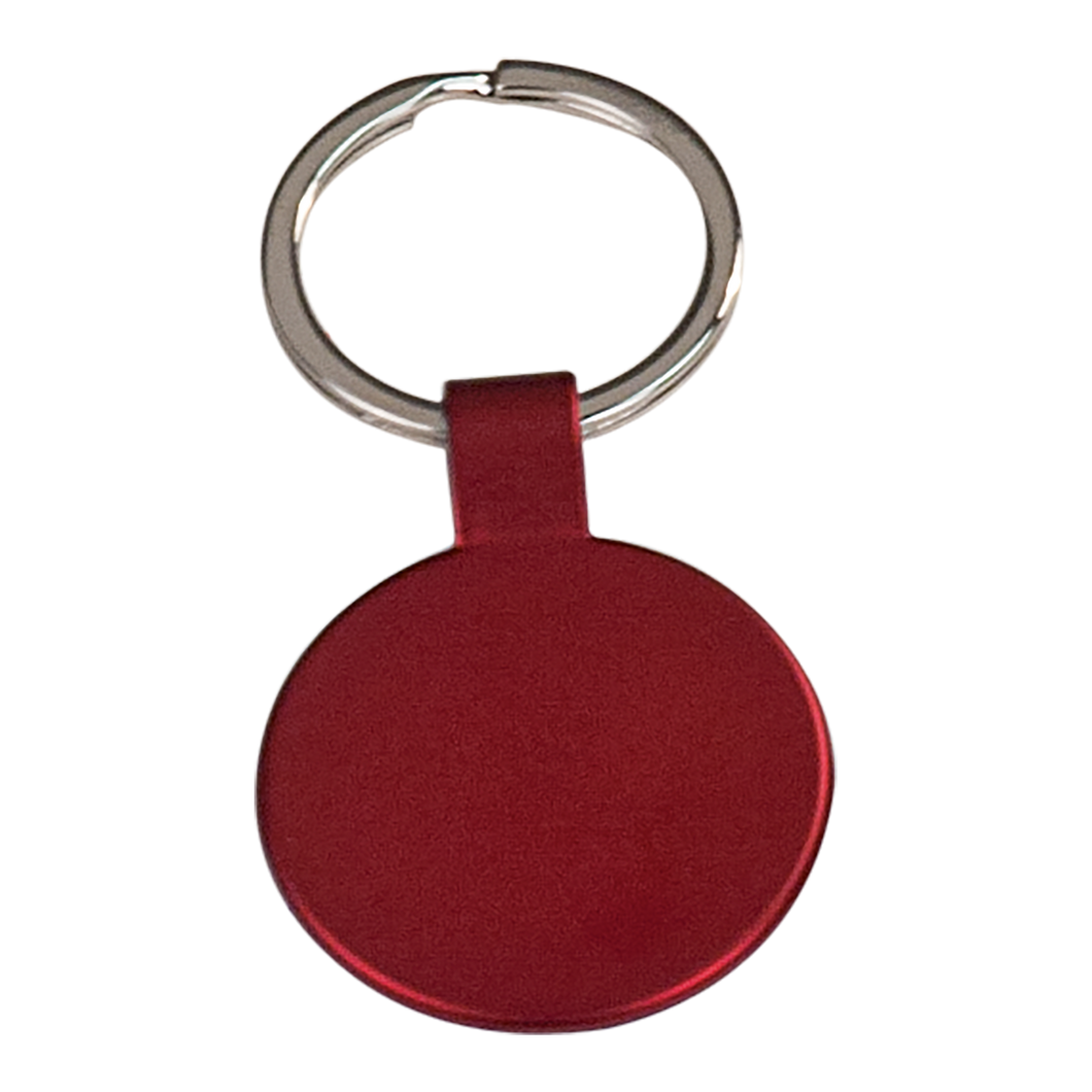 Red Round Metal Keychain