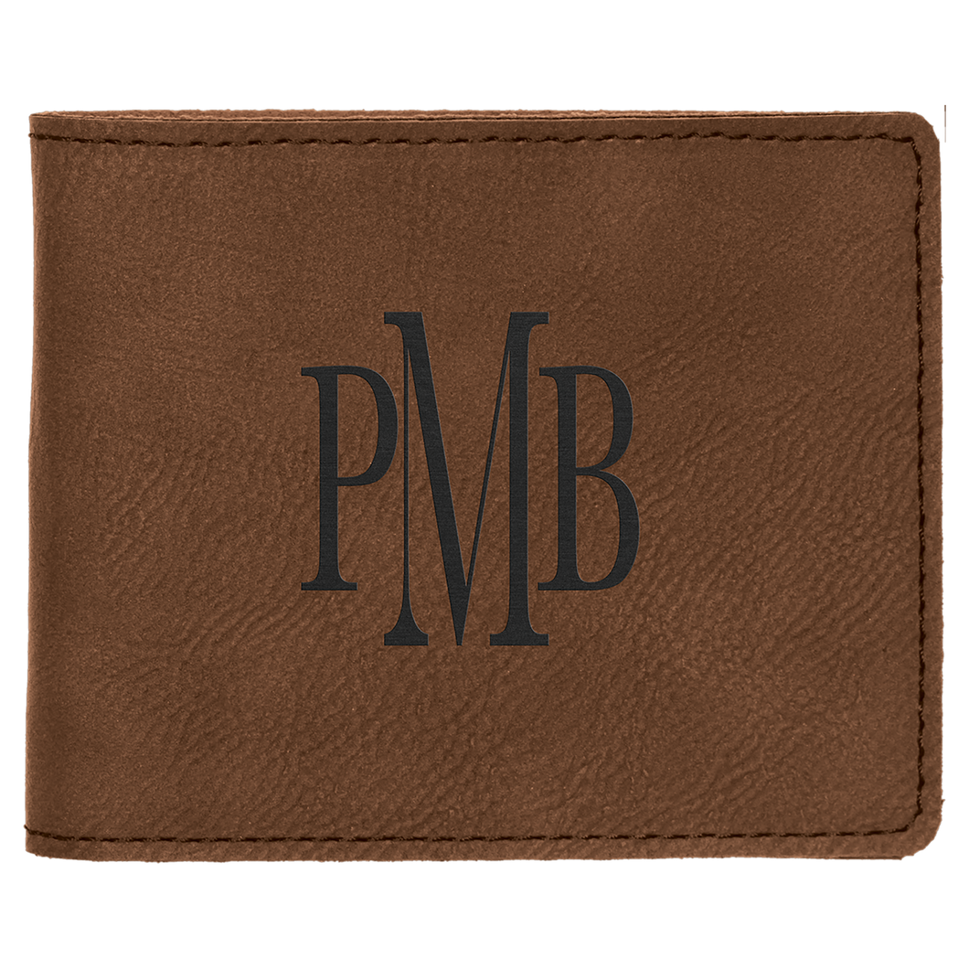 Dark Brown Leatherette Money Clip