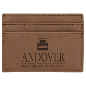 Dark Brown Leatherette Wallet Clip