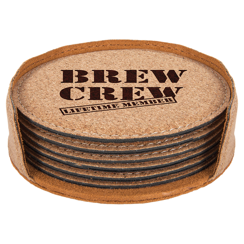 Round Cork 6-Coaster Set