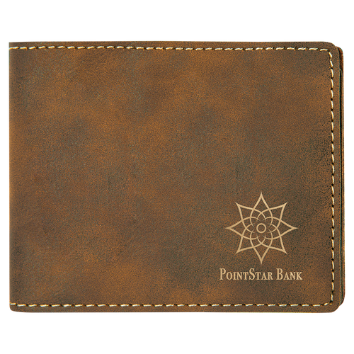 Rustic & Gold Leatherette Biford Wallet