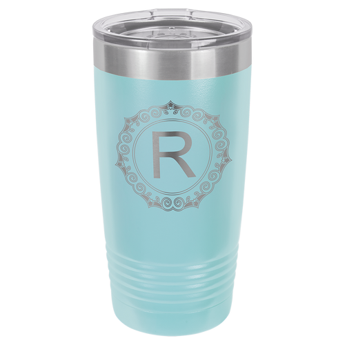 20 oz. Light Blue Polar Camel Insulated Ringneck Tumbler with Clear Lid