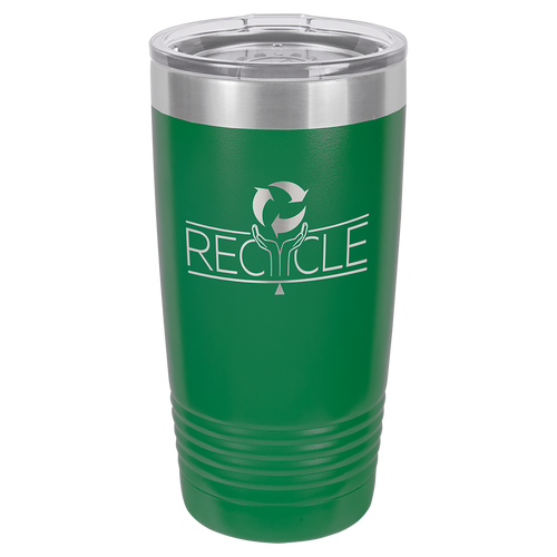 20 oz. Green Steel Polar Camel Insulated Ringneck Tumbler with Clear Lid