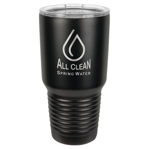 30 oz. Black Polar Camel Ringneck Insulated Tumbler & Clear Lid w/o Silver Ring