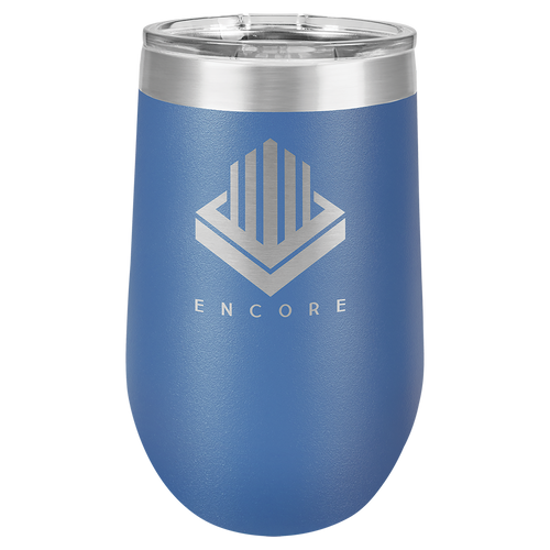 16 oz. Royal Blue Polar Camel Insulated Stemless Tumbler with Clear Lid