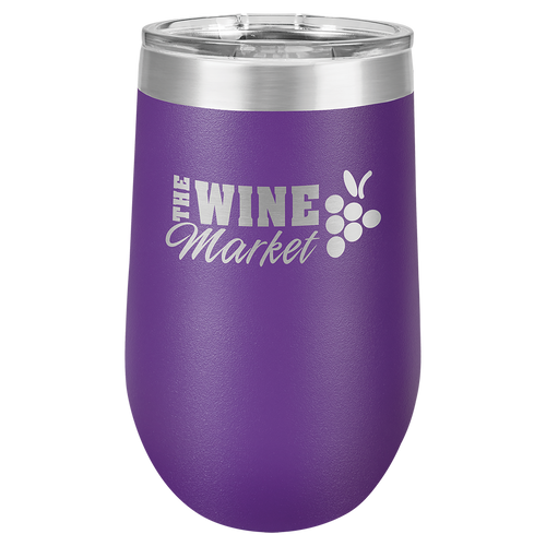16 oz. Purple Polar Camel Insulated Stemless Tumbler with Clear Lid