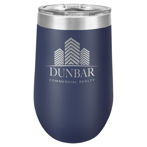 16 oz. Navy Blue Polar Camel Insulated Stemless Tumbler with Clear Lid