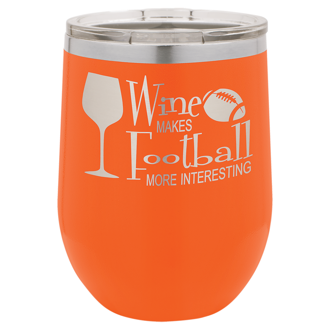 12 oz. Orange Polar Camel Insulated Stemless Tumbler with Clear Lid