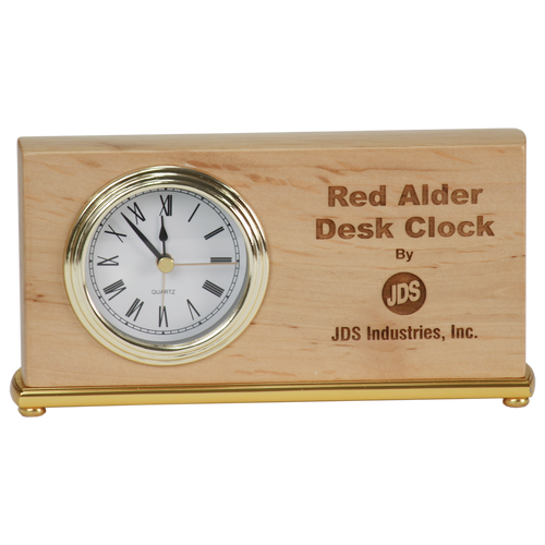 Red Alder Horizontal Clock