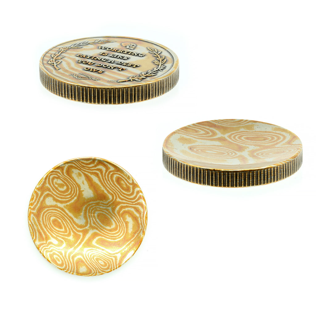 O2 Worry Coin | LE Mokume