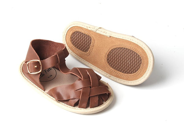 'Hazelnut' Fawn Sandals | Soft Soled | Waxed Leather