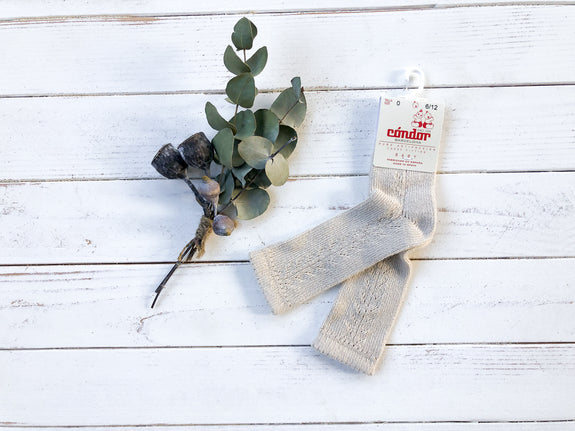 Linen Lace Knee High Socks